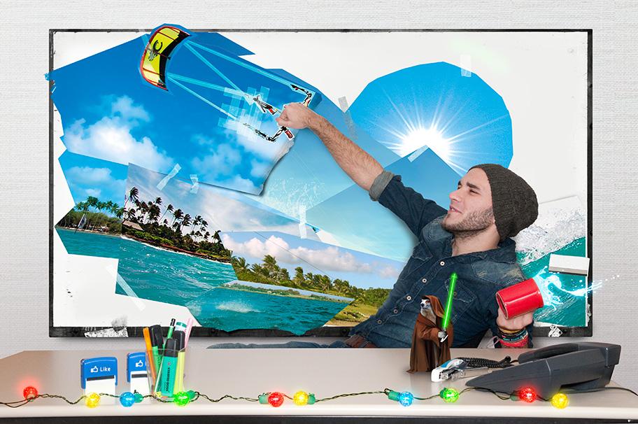 Carte de vœux digitale UCPA : Community manager & Kite surf