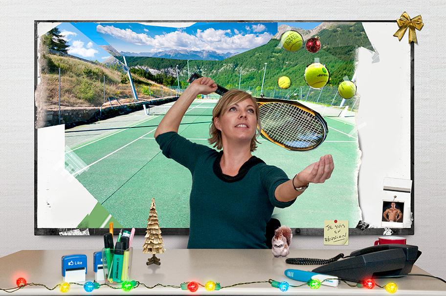 Carte de vœux digitale UCPA : Responsable ADV & Tennis