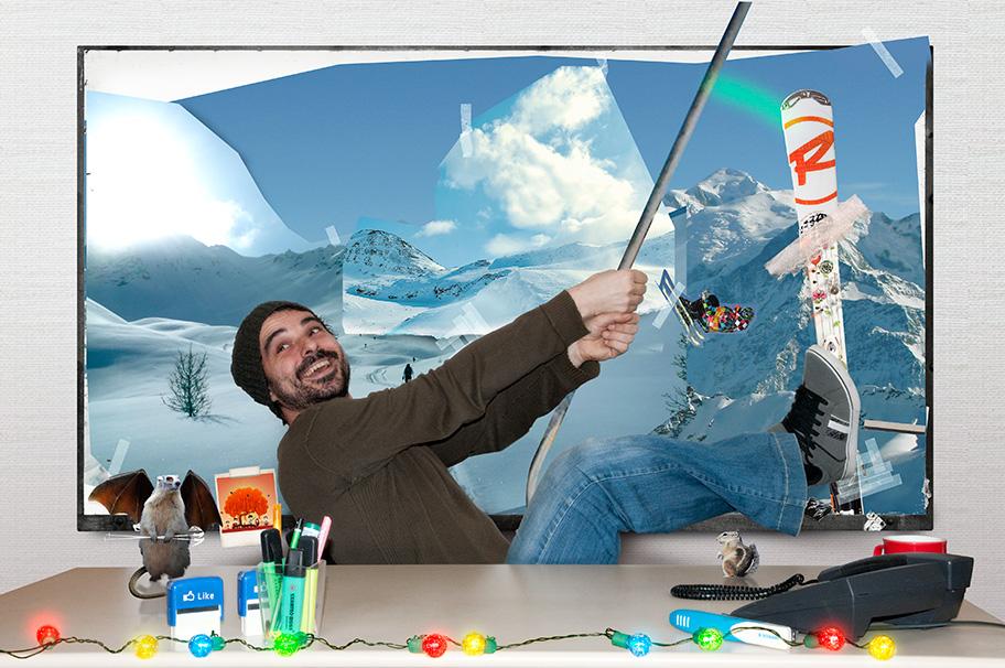 Carte de vœux digitale UCPA : Directeur artistique & Ski