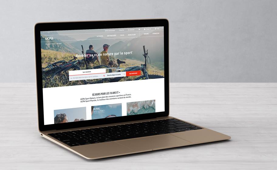 Identité de marque UCPA - Transformation digitale - Site e-commerce