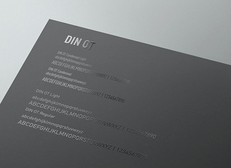 Identité de marque UCPA - Typographie DIN OT